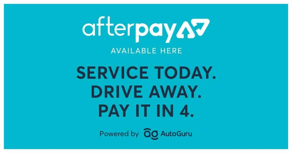 Afterpay logo in blue
